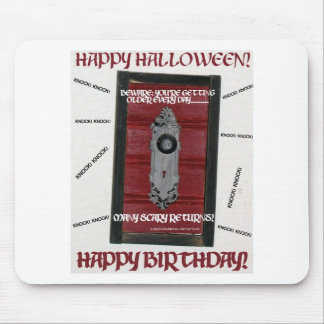 HAPPY HALLOWEEN BIRTHDAY MOUSEPADS