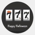 Happy Halloween Black 777 Sticker
