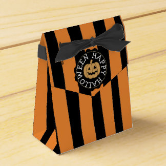 Happy Halloween Black and Orange Party Favor Bags Favour Box