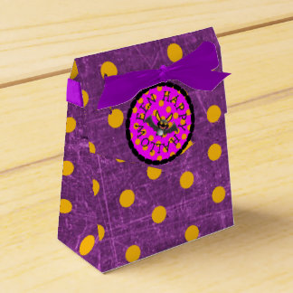 Happy Halloween Black and Purple Party Favor Bags Favour Box