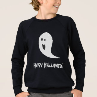 Happy Halloween Black And White Spooky Scary Ghost Sweatshirt