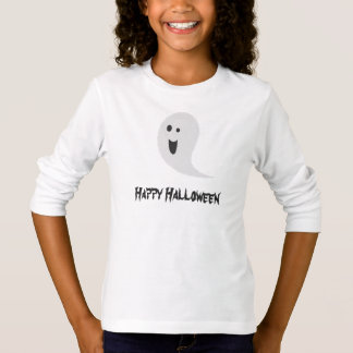Happy Halloween Black And White Spooky Scary Ghost T-Shirt