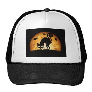 happy halloween black cat cap