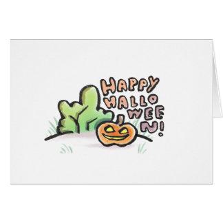 Happy Halloween Blank Greeting Card {Halloween}