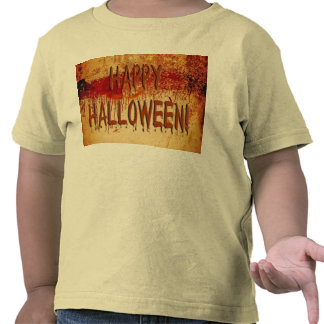 Happy Halloween Blood Stained Wall Toddler T-Shirt