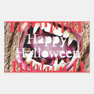 Happy Halloween Bloody Vampire Teeth Stickers