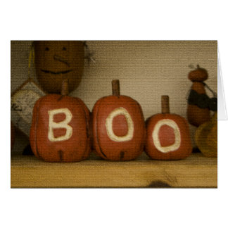 Happy Halloween Boo pumpkin card