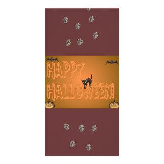 Happy Halloween Bookmark Photo Card Template