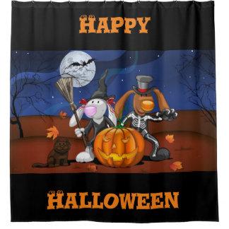 Happy Halloween Bunnies Shower Curtain