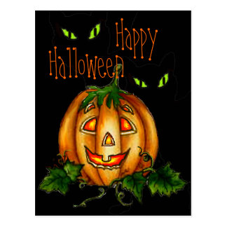 HAPPY HALLOWEEN by SHARON SHARPE Postcard