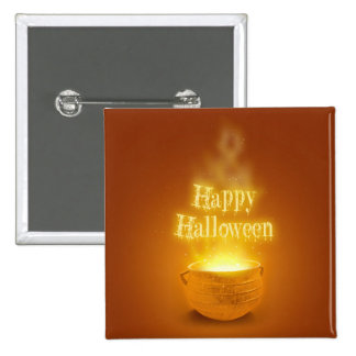 Happy Halloween Caldron - Button