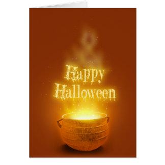 Happy Halloween Caldron - Greeting Card