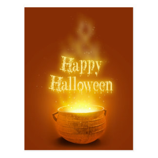 Happy Halloween Caldron - Postcard