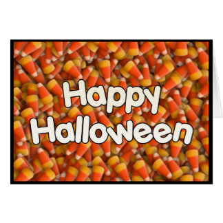 Happy Halloween Candy Corn Greeting Card