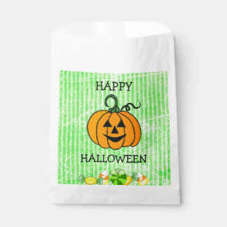 Happy Halloween Candy Corn Pumpkin Favor Bag