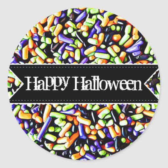 Happy Halloween Candy Sprinkles Stickers