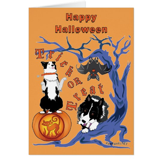 Happy Halloween Cards Orange Background