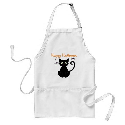 Happy Halloween Cat Aprons