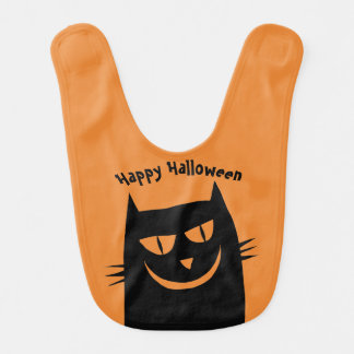 Happy Halloween Cat Bib