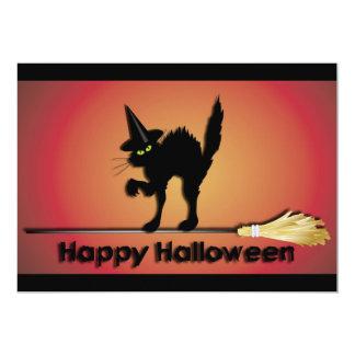 Happy Halloween Cat Invitation