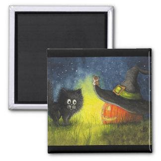 Happy Halloween Cat Magnet by Bihrle