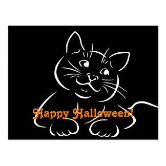 Happy Halloween Cat Postcard