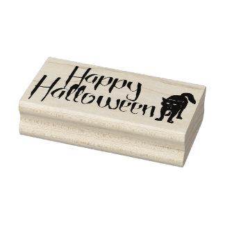 Happy Halloween Cat Rubber Stamp