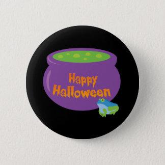 Happy Halloween Cauldron 6 Cm Round Badge