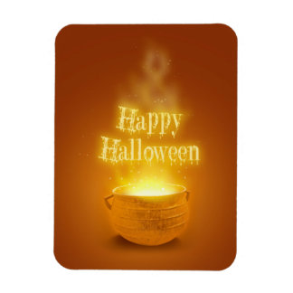 Happy Halloween Cauldron - Flexible Magnet