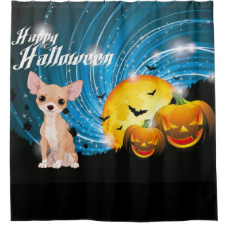 Happy Halloween Chihuahua Shower Curtain