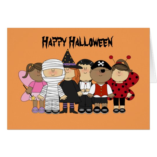 Happy Halloween Children Card