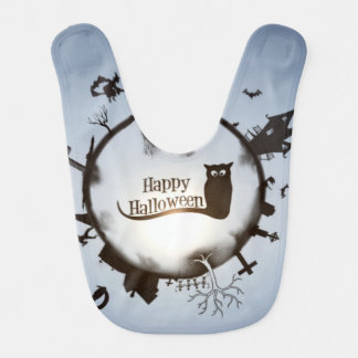 Happy Halloween Circle Bib