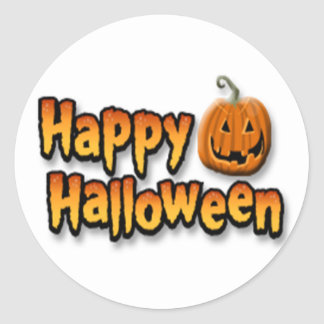Happy Halloween Classic Round Sticker