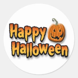 Happy Halloween Classic Round Sticker