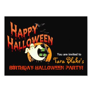 Happy Halloween Costume Party Custom Announcements