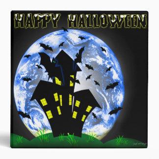Happy Halloween Creepy Haunted House  Avery Binder