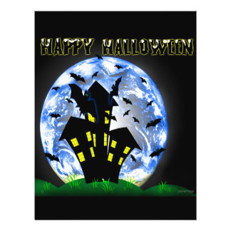 Happy Halloween Creepy Haunted House  Flyer