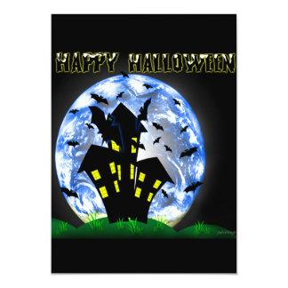 Happy Halloween Creepy Haunted House Invitation