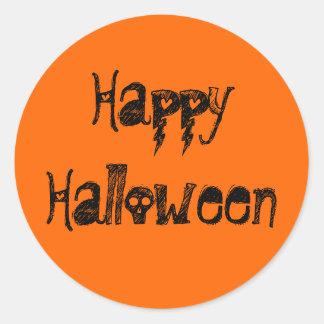 Happy Halloween Creepy Script Text Sticker