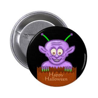 Happy Halloween Cute Cartoon Goblin Monster 6 Cm Round Badge