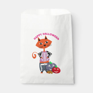 Happy Halloween Cute Cat Favour Bags
