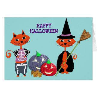 Happy Halloween Cute Cats Card