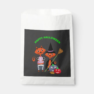 Happy Halloween Cute Cats Favour Bags