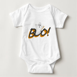 Happy Halloween Cute Ghost Word BOO! Baby Bodysuit
