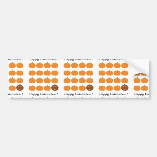 Happy Halloween Cute Pumpkin Patch Bumper Sticker