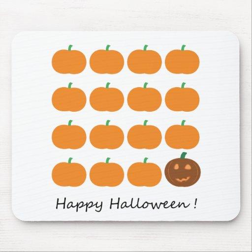 Happy Halloween Cute Pumpkin Patch Mousepad