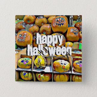 Happy Halloween Cute Pumpkin Stand Button