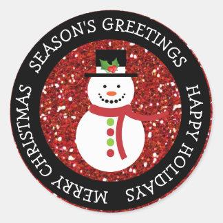 Happy Halloween Cute Snowman Christmas Stickers