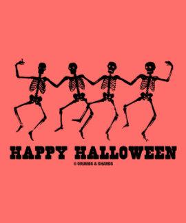 Happy Halloween Dancing Skeletons Tshirts