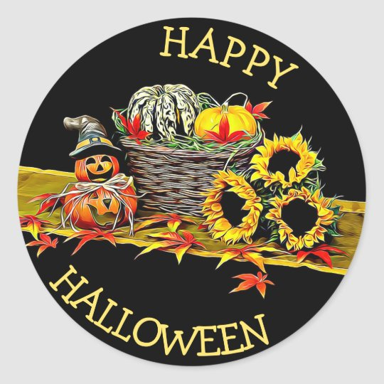 Happy Halloween Decorations Sticker
